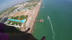 Parasailing Over the Sea Stock Footage