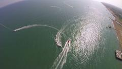 Sport activity - Para Sailing Over the Sea Stock Footage