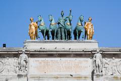 Arc de triomphe du carrousel in paris, france. Stock Photos