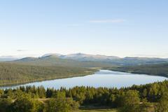 lake gålå, oppland, norway, scandinavia, northern europe, europe - stock photo