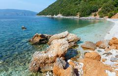 antisamos beach summer view (greece,  kefalonia). - stock photo