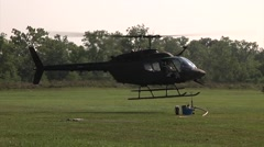 Helicopter Aviation Support Battalion refueling helicopter - stock footage