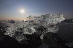 Stock Photo of ice, joekulsarlon glacial lake, vatnajoekull or vatna glacier, east iceland,