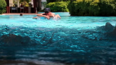 Jacuzzi in Swimming Pool Stock Footage