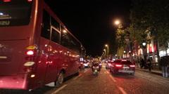 Timelapse following cars in paris Champs-Élysées Stock Footage
