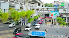 bangkok, thailand - 22 nov 2013: traffic on multi-level intersection. phaya t - stock footage
