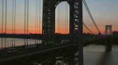 George Washington Bridge Pre-sunrise 5 Stock Footage