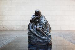 the neue wache - new guard house interior in berlin, germany - stock photo