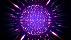 Sparkling shiny ball seamless loop background Stock Footage