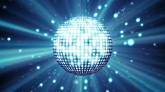 Blue disco ball shining seamless loop Stock Footage