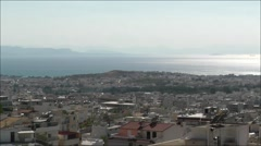Panoramic athens and  Piraeus sunlight summer view Stock Footage