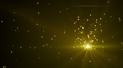 Gold glittering dust seamless loop Stock Footage
