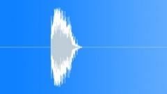 PBFX Dramatic hit deep electronic wood 1257 Sound Effect