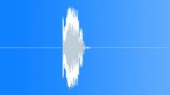 PBFX Dramatic hit deep electronic wood 1258 Sound Effect