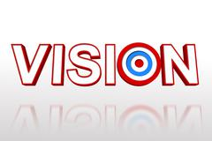 The word vision with target - stock illustration