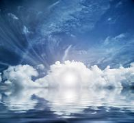 Divine sky, heaven. conceptual entrance to new life. hope, faith, religion. Kuvituskuvat