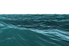 Stock Illustration of Digitally generated Blue rough sea