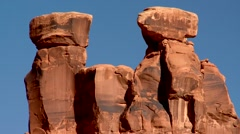Arches National Park Three Gossips Stock Footage