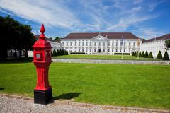Schloss bellevue, the presidential palace in berlin, germany Stock Photos