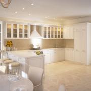 modern kitchen house interior - stock illustration