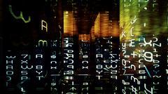 Stock Illustration of Digital Data Chaos