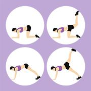 Woman Fitness Vector - stock illustration