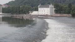 The rapids of the Vltava Stock Footage
