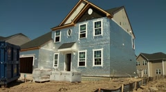 New Home construction - stock footage