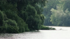 4K River Tisza in Hungary 5 Stock Footage