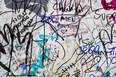 east side gallery - berlin wall. berlin, germany - stock photo