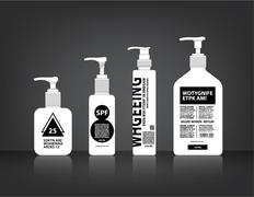 Cosmetics Bottle Packaging Vector - stock illustration