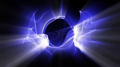 Radial Light Formations - stock illustration
