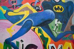 East side gallery - berlin wall. berlin, germany Stock Photos