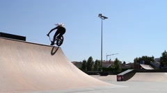Trainings during the DVS BMX Series 2014 by Fuel TV Stock Footage