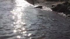 St.Petersburg.Elagin island.Wave splash. Stock Footage