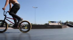Cesar Teixeira during the DVS BMX Series 2014 by Fuel TV Stock Footage
