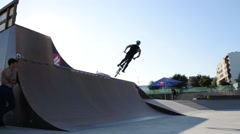 Miguel Crespo during the DVS BMX Series 2014 by Fuel TV Stock Footage