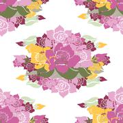seamless pattern with decorative gardenia, for invitations, cards, scrapbooking - stock illustration