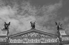 Stock Photo of theater facade, roof
