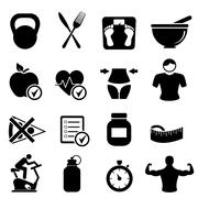 Diet, fitness and healthy living Stock Illustration