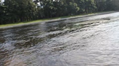 St.Petersburg.Elagin island.Wave splash of  russian river. Stock Footage