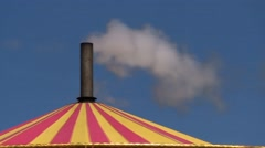 Steam Roundabout Funnel Stock Footage