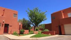 Adobe Houses in the Desert Blue Sky Stock Footage