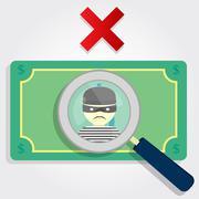 counterfeit money - stock illustration