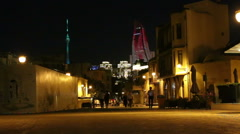 Old Baku at night Stock Footage