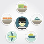 theft transport - stock illustration