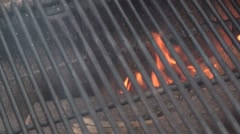 Grill on the fire pit Stock Footage