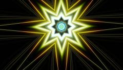Fractal Star with Radiation Stock Footage