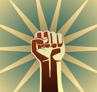 Revolution fist Stock Illustration