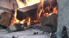 Inside fire pit 2 Stock Footage